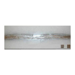 Matthew's Art Gallery - Oil Painting Abstract Art on Canvas Silver Line - The Painting:  Silver Line