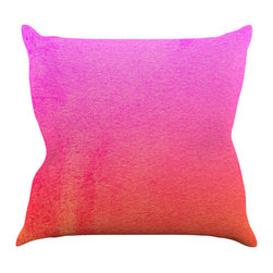 "Kess InHouse - Monika Strigel ""Fruit Punch"" Magenta Orange Throw Pillow (18"" x 18"") - Rest among the art you love. Transform your hang out room into a hip gallery, that's also comfortable. With this pillow you can create an environment that reflects your unique style. It's amazing what a throw pillow can do to complete a room. (Kess InHouse is not responsible for pillow fighting that may occur as the result of creative stimulation)."