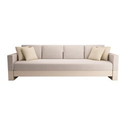 ecofirstart - GRADE SOFA - Lacquer or wood sofa with organic fabric upholstered cushions - all ecofriendly.