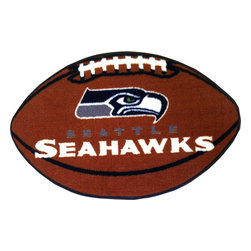 Fanmats - NFL Seattle Seahawks Football Shaped Accent Floor Rug - Features: