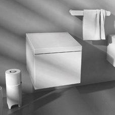 Block Wall-Hung Toilet BKV001 BKA002 by Art Ceram   YBath