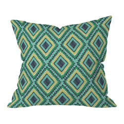 DENY Designs - Vy La Island Diamond Outdoor Throw Pillow, 26x26x7 - Do you hear that noise? It's your outdoor area begging for a facelift and what better way to turn up the chic than with our outdoor throw pillow collection? Made from water and mildew proof woven polyester, our indoor/outdoor throw pillow is the perfect way to add some vibrance and character to your boring outdoor furniture while giving the rain a run for It's money.