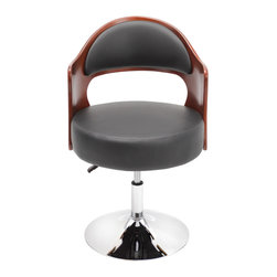 "Lumisource - Cello Chair, Cherry/Black - 21.5"" Diam. x 30.5 - 34.5H"