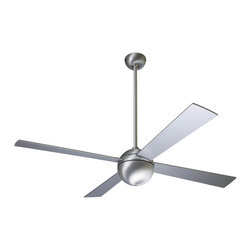 "Modern Fan Company - Modern Fan Company Ball Brushed Aluminum 42"" Ceiling Fan - Features:"