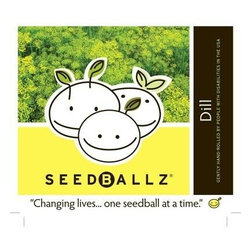 Seedballz Dill - 8 Pack - Plant fun with Seedballz! Inspired by soil scientist Masanobu Fukuoka, author of  The One -Straw Revolution , SeedBallz began mixing a special blend of rich organic humus, a whole packet of seeds and clay to offer the gardener a new way to grow wildflowers and herbs. SeedBallz are so unique, they grow in clusters rather than single seeds! These little balls are made of an all-natural mixture of seeds, red clay, and soil humus. The clay protects the seeds from drying out and being taken by birds or insects. This pack of Seedballz is packed with seeds designed to attract hummingbirds and butterfly. They are rolled in an all-natural, protective growing blend designed to nourish your flowers. Adults with developmental disabilities prepare and package each ball by hand, right here in the USA. Each package contains 8 SeedBallz.