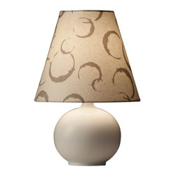 Ziqi Home - Lanting Table Lamp - You've always been on the ball when it comes to your home's decor. That's why you'll appreciate this delightful table lamp, featuring a high-fire porcelain ball base and printed linen shade.