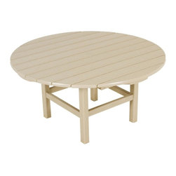 Polywood - Eco-friendly Coffee Table in Sand - Enhance your outdoor living and entertaining space with this classic conversation table. it's guaranteed to get people talking.