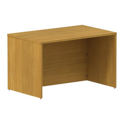 "Bush - Bush 300 Series 48"" Credenza Desk Shell in Modern Cherry - Bush - Commercial Grade Office - 300SDESK48MCK - Put together a solid foundation for business. BBF Modern Cherry 300 Series 48""W Shell Desk Kit adds extra workspace so you can spread out. The desk kit complements all 300 Series pieces and features a 30"" surface, keeping work close at hand. Comfortable to sit behind, lots of legroom lets you stretch out. Rich, Modern Cherry finish works with any office decor. Total configuration flexibility lets you outfit any-size office space. Tough, rugged work surfaces resist scratching, stains, dings and dents, looking good for years. Includes BBF Limited Lifetime warranty."