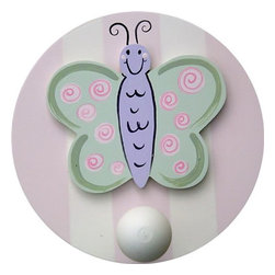 Wish Upon A Star - Butterfly Wall Peg - Set of Two - Butterfly Wall Peg - Set of Two