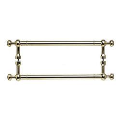 Top Knobs - Somerset Weston Back to Back Door Pull - Polished Brass (TKM828-12 pair) - Somerset Weston Back to Back Door Pull - Polished Brass
