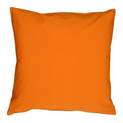 Pillow Decor - Pillow Decor - Caravan Cotton Orange 23 x 23 Throw Pillow - Our largest size in the Caravan Cotton pillows, these 23 x 23 inch throw pillows are perfect for large sectionals or family rooms and dens where you want that over sized pillow to collapse into at the end of the day. With 3% spandex added to improve durability and wash ability, these colorful cotton pillows will provide long lasting comfort.