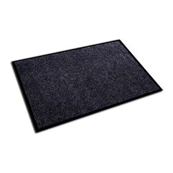 Ecotex - Floortex Ecotex Charcoal 24x36-inch Rib Entrance Mat - This charcoal entrance mat will easily help protect your home from the elements. It features optimal water and dust retention to ensure that your home stays dry and clean inside. The anti-slip backing is made of durable vinyl for a long life of use.
