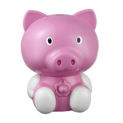 Sunpentown - Pig Ultrasonic Humidifier - Help your little ones breathe easier by adding moisture to the air with our adorable Pig humidifier. Provides year-round relief from the drying effects of AC and Heater. Features super-quiet operation, 1.8 liters tank capacity and auto shut-off protection (with no audible alarm) - the perfect addition to any child's room.