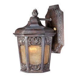 Maxim Lighting - Maxim Lighting Lexington VX Traditional Outdoor Wall Sconce X-UCSN27104 - This Maxim Lighting Lexington VX Traditional Outdoor Wall Sconce is an elegant and sophisticated piece. Notice the impeccably designed frame in a rich, colonial umber finish that perfectly complements the night shade. It's a marvelous, one-light piece that's made from Vivex, a non-corrosive, UV resistant material that makes this an exceptionally durable fixture.