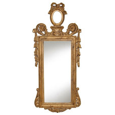 Contemporary Wall Mirrors Hickory Manor House Ornate French Arch Wall Mirror - 12W x 28H in. - HM9716OR