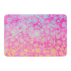 "KESS InHouse - Monika Strigel ""Get Lucky"" Memory Foam Bath Mat (24"" x 36"") - These super absorbent bath mats will add comfort and style to your bathroom. These memory foam mats will feel like you are in a spa every time you step out of the shower. Available in two sizes, 17"" x 24"" and 24"" x 36"", with a .5"" thickness and non skid backing, these will fit every style of bathroom. Add comfort like never before in front of your vanity, sink, bathtub, shower or even laundry room. Machine wash cold, gentle cycle, tumble dry low or lay flat to dry. Printed on single side."