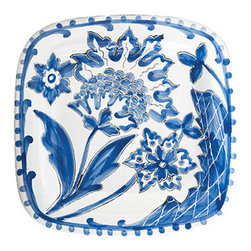 Blu Bianco Square platter - This gorgeous handpainted plate is one I don't know I'd want to muck up with a bunch of cheese and crackers; for me, it would probably go straight onto my wall!