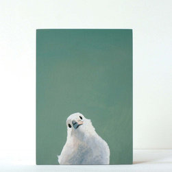 White Bird Panel Print - Clean. Simple. Beautiful. Forget the matte, forget the frame–each print comes with a sawtooth hanger and rubber bumpers and are ready to hang out of the box.