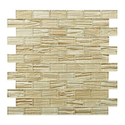None - SomerTile 'Arbor Subway Cream' 12.25x12.25-inch Glass Mosaic Tiles (Pack of 10) - Renovate the look of your kitchen,bathroom or outdoor area with this classic subway mosaic tile. Constructed of glass with a unique metallic glazing,these tiles are impervious to water and make a great addition to any indoor or outdoor area.