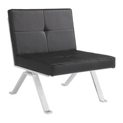 Retro Inspired Modern Lounge Chair, Black - Retro Inspired Modern Lounge Chair