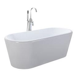 Freestanding acrylic bathtub bathtubs find clawfoot tub for Soaker tub definition