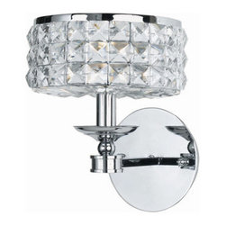 Crystorama Lighting Group - Crystorama Lighting Group 801-CL-MWP Chelsea 1 Light Wall Sconce with Clear Hand - Single Light Majestic Wood Polished Crystal Wall SconceRequires 1 60w Candelabra Bulb (Not Included)