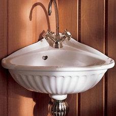 "Bathroom Sinks Herbeau ""Carline"" Vitreous China Corner Sink"