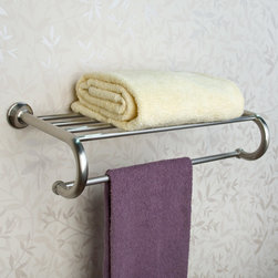 Ballard Towel Rack - Perfect for a hall, powder room or bath, this Ballard Collection Towel Rack is a delicate blend of beauty and function. It is made of solid brass and can pair with any piece from the Ballard Collection for a finished look.