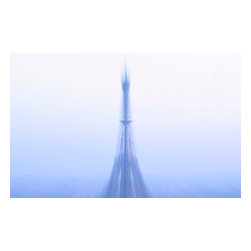Custom Photo Factory - Eiffel Tower in Fog Canvas Wall Art - Eiffel Tower in Fog  Size: 20 Inches x 30 Inches . Ready to Hang on 1.5 Inch Thick Wooden Frame. 30 Day Money Back Guarantee. Made in America-Los Angeles, CA. High Quality, Archival Museum Grade Canvas. Will last 150 Plus Years Without Fading. High quality canvas art print using archival inks and museum grade canvas. Archival quality canvas print will last over 150 years without fading. Canvas reproduction comes in different sizes. Gallery-wrapped style: the entire print is wrapped around 1.5 inch thick wooden frame. We use the highest quality pine wood available. By purchasing this canvas art photo, you agree it's for personal use only and it's not for republication, re-transmission, reproduction or other use.