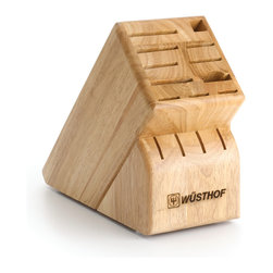 Wusthof - Wusthof 15-Slot Block - Knife Blocks preserve your entire knife collection while still leaving counter space. Perfect for bird's beak paring knives, filet knifes, chef's knifes, santoku knives, sharpening steels and more.