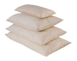 Bio Sleep Concept - Organic Wool Soft Pillow, King - Amazing, hand crafted bed pillows. Our pillows are made exclusively using Natural Felt certified organic cotton, and manufactured in the State of Oregon. Our pillows come in three sizes. Standard (20x25) Queen (20x30) King (20x36) Our products bear the organic cotton logo.