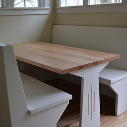Reclaimed Wood Tables & Counters - Viridian designed our tables & counters around the needs of heavy-use kitchens, and we craft them to stand the test of time and look amazing despite constant spills and wipe downs.  They are perfect for table tops, desks and counters alike. We offer many sizes and materials--all are 100% reclaimed and manufactured in the Pacific Northwest!