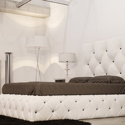 MACRAL DESIGN .Ronda bedroom set R31 - Ronda Collection. Queen bed .Headboard and bed base upholstered.