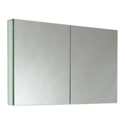 "Fresca - Two Mirrored Door Medicine Cabinet - This 40""medicine cabinet ..."