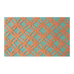 "The Rug Market - Sparkles Orange Area Rug, 16"" x 27"" - This contemporary rug is made of UV Poly and will surely add color to any space"