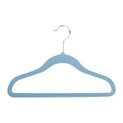 Honey Can DO - Kid's Velvet Hanger - Blue, Set of 60 - Non-slip, soft, kid sized and blue, our velvet kid's hangers are contoured to keep shirts, dresses, jackets and pants perfectly in place and wrinkle free. Just the way mom likes it.
