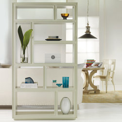 Malibu Loft Vertical Bookcase - For a modern, fresh feel, this white bookcase is a great option. I think it would make a fabulous room divider.
