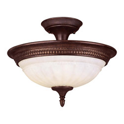 Savoy House - Savoy House KP-6-508-3-40 Liberty Semi-Flush - Climb into your horse drawn carriage and go back in time with the Liberty collection. A dignified Colonial design with a rustic Walnut Patina finish almost makes this collection an amercian treasure.