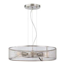 Minka Lavery - Minka Lavery 4136-84 Downtown Edison 6 Light Pendant - Brushed Nickel Finish