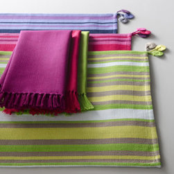 San Marcos Striped Place Mats - Tie in all the colors of your kitchen with these beautiful striped placemats.