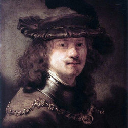 """Govert Teunisz Flinck Portrait of Rembrandt - 16"""" x 20"""" Premium Archival Print - 16"""" x 20"""" Govert Teunisz Flinck Portrait of Rembrandt premium archival print reproduced to meet museum quality standards. Our museum quality archival prints are produced using high-precision print technology for a more accurate reproduction printed on high quality, heavyweight matte presentation paper with fade-resistant, archival inks. Our progressive business model allows us to offer works of art to you at the best wholesale pricing, significantly less than art gallery prices, affordable to all. This line of artwork is produced with extra white border space (if you choose to have it framed, for your framer to work with to frame properly or utilize a larger mat and/or frame).  We present a comprehensive collection of exceptional art reproductions byGovert Teunisz Flinck."""