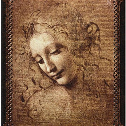 Home Decorators Collection - Female Head Tapestry - Originally painted by Leonardo da Vinci, the graceful design of the Female Head Tapestry will make a stunning accent in any home decor. The added border provides appealing texture while fluid lines and precise details bring this classic image to life. Buy new wall decor today and rejuvenate any area.Jacquard woven using the latest computer-based loom for beauty and intricacy.Finest 100% cotton provides heirloom quality.Made in the U.S.A.Tapestry rod and hanging hardware not included.