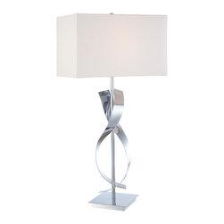 George Kovacs P723-077 Modern Chrome Table Lamp - Chrome Finish
