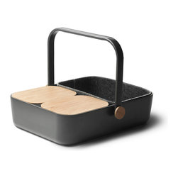 Menu A/S - New Norm Multi Picnic Basket - Menu A/S - A brand new kind of picnic basket. An aesthetic, durable and functional hybrid between a tray and a basket. The New Norm Multi-Basket is our latest addition to MENU's recognizable and distinctly Nordic New Norm universe