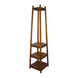 Ore International Inc - 3 Tier Shoe Tower & Coat Rack - FW1275C - Shop for Coat Hooks and Racks from Hayneedle.com! Improve your entryway with the 3 Tier Shoe Tower & Coat Rack. There s no need for kicking shoes willy-nilly into the closet with this nifty organizer. This solid wood framework features three sturdy shelves capable of holding up to 50 lbs. of shoes each that s a lot of shoes. In addition to offering so much open shelving the tower also boasts eight metal hooks for all your coats jackets scarves and accessories.About Ore International Inc.Ore International Inc. creates beautiful accent furniture lighting and gifts for the home. Their goal is to be the leading provider of innovative superior home products worldwide. Ore International is based in Santa Fe Springs California and has a Customer First attitude. Their products are designed to match modern and classic tastes and fit today's homes. From room dividers to lamps end tables to entertainment centers you'll discover quality craftsmanship at a fair price in all Ore International products.