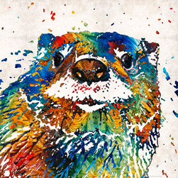 Animals, Fish and Birds - Otter Art - Ottertude - By Sharon Cummings