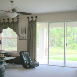 Custom Window Treatments - Custom Window Treatment Swag and Panels