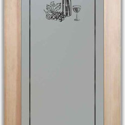 """Pantry Door - Pantry Doors - Wine Tasting - PANTRY DOORS TO SUIT YOUR STYLE!  Glass Pantry Doors you customize, from wood type to glass design!   Shipping is just $99 to most states, $159 to some East coast regions, custom packed and fully insured with a 1-4 day transit time.  Available any size, as pantry door glass insert only or pre-installed in a door frame, with 8 wood types available.  ETA for pantry doors will vary from 3-8 weeks depending on glass & door type.........Block the view, but brighten the look with a beautiful obscure, decorative glass pantry door by Sans Soucie!   Select from dozens of frosted glass designs, borders and letter styles!   Sans Soucie creates their pantry door obscure glass designs thru sandblasting the glass in different ways which create not only different effects, but different levels in price.  Choose from the highest quality and largest selection of frosted glass pantry doors available anywhere!   The """"same design, done different"""" - with no limit to design, there's something for every decor, regardless of style.  Inside our fun, easy to use online Glass and Door Designer at sanssoucie.com, you'll get instant pricing on everything as YOU customize your door and the glass, just the way YOU want it, to compliment and coordinate with your decor.  When you're all finished designing, you can place your order right there online!  Glass and doors ship worldwide, custom packed in-house, fully insured via UPS Freight.   Glass is sandblast frosted or etched and pantry door designs are available in 3 effects:   Solid frost, 2D surface etched or 3D carved. Visit or site to learn more!"""