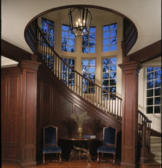 traditional staircase by Judith Mattingly