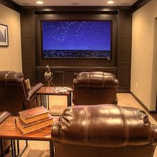 Modern Home Theater by Ashton Woods